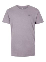 Topman Globe Purple Crocodile Print T Shirt Cream