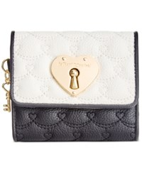 Betsey Johnson Swag Heart French Wallet Cream