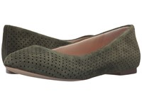 Dr. Scholl's Vixen Original Collection Olive Suede Women's Flat Shoes