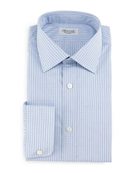 Charvet Plaid Check Dress Shirt Navy