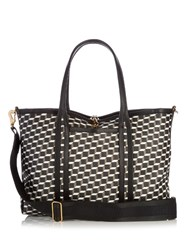 Pierre Hardy Cube Print Coated Canvas Tote Black White