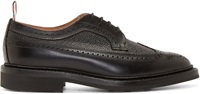 Thom Browne Black Leather Classic Longwing Brogues