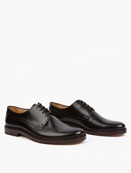 A.P.C. Dark Brown Leather Derby Shoes