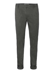 Topman Grey Salt And Pepper Textured Stretch Skinny Chinos