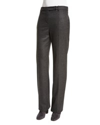 Loro Piana Lawrence Straight Leg Trousers Dark Gray