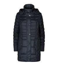 Fuchs And Schmitt Quilted Hooded Long Jacket Female Navy
