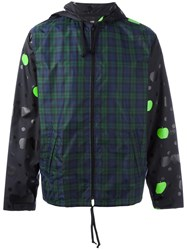 Comme Des Garcons Dots Plaid Windbreaker Grey
