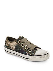 Ash Vicky Camo Snake Print Sneakers