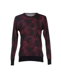 H Sio Knitwear Jumpers Men Maroon