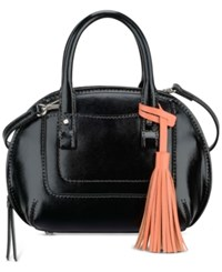 Nine West Internal Affairs Mini Ellisha Satchel Black