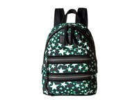 Marc Jacobs Flocked Stars Printed Biker Mini Backpack Black Multi Backpack Bags