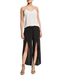 Haute Hippie New Harem Drawstring Waist Pants Black