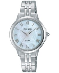 Pulsar Women's Solar Dress Stainless Steel Bracelet Watch 31Mm Py5005