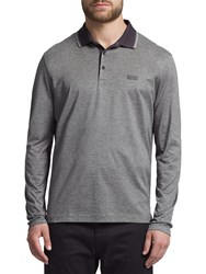 Hugo Boss Boss Green C Tivoli Long Sleeve Polo Shirt Dark Blue