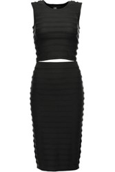 Line Tinashe Textured Knit Top And Skirt Set Black