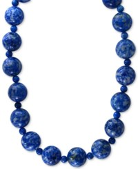 Effy Lapis Lazuli 4 And 12Mm Beaded Collar Necklace In 14K Gold Yellow Gold