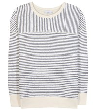Closed Striped Cotton Blend Sweatshirt Neutrals