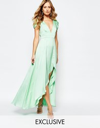 Fame And Partners Radiant Angel High Low Maxi Dress Gr1 Green 1