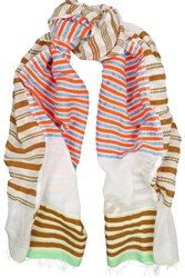 Lemlem Ishi Striped Cotton Blend Gauze Scarf