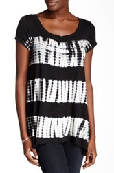 Cable And Gauge Banded Back Hi Lo Tee Black