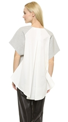 Sass And Bide Personal Project Tee Grey Marle Ivory