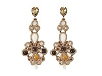 Gypsy Soule Cre59 Amber Gold Brown Earring