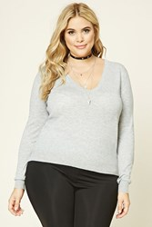 Forever 21 Plus Size V Neck Sweater