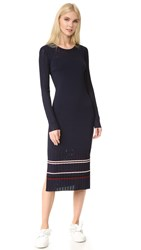 Grey Jason Wu Striped Knit Dress Midnight Midnight Stripe