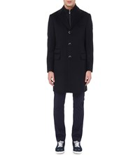 Corneliani Identity Wool Overcoat Navy