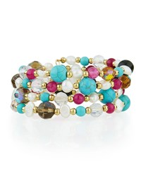 Emily And Ashley Greenbeads By Emily And Ashley Beaded Crystal Wire Wrap Bracelet Multi