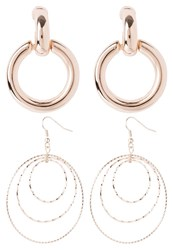 Miss Selfridge 2Pack Smooth Earrings Rose Goldcoloured