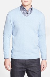 Men's Big And Tall John W. Nordstrom Cashmere V Neck Sweater Blue Slate