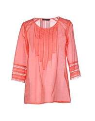 Nuvola Shirts Blouses Women Coral