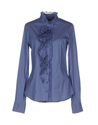 Pinko Black Shirts Shirts Women Slate Blue