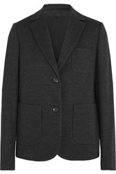 Brunello Cucinelli Wool And Cotton Blend Blazer Gray