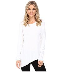Trina Turk Long Sleeve Drape Shirt White Women's Clothing