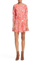 Women's Current Elliott 'The Tennant' Floral Print Cutout Dress Chrysanthemum Bandana Paisley