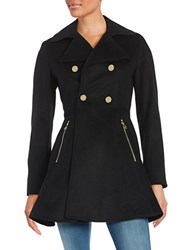 Laundry By Shelli Segal Flared Wool Blend Coat Black