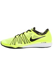 Nike Performance Dual Fusion Tr Hit Sports Shoes Volt Black White Neon Yellow