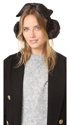 Kate Spade Earmuffs With Satin Bow Black