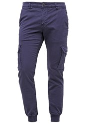 Franklin And Marshall Cunningham Cargo Trousers Uniform Blue Dark Blue