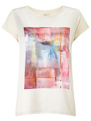 Numph Numph Arty Photo Print T Shirt Birch