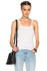 T By Alexander Wang Strappy Tank Top In White