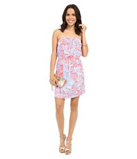Lilly Pulitzer Windsor Dress Pink Sun Ray Summer Siren Women's Dress