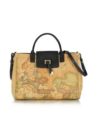 Alviero Martini Medium Golden Tie Handbag Black