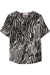 Equipment Riley Zebra Print Silk Top Animal Print