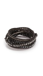 Chan Luu Mixed Up Wrap Braclet Onyx Mix
