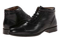 Johnston And Murphy Stratton Cap Toe Boot Black Calfskin Men's Lace Up Boots