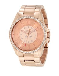 Juicy Couture Ladies Rose Gold And Swarovski Crystal Watch Rose Goldtone