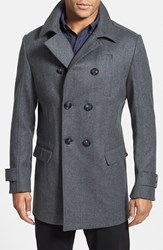 Men's Rodd And Gunn 'Gilbert' Tailored Fit Italian Wool Blend City Coat Charcoal Grey